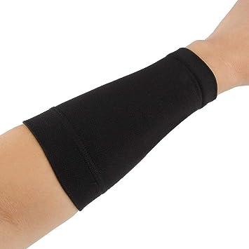 Bandas de compresión para tatuaje antebrazo de color negro y piel ...