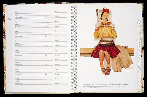 Norman Rockwell Address Book (Gift Line)