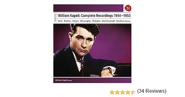 William Kapell: Complete Recordings 1944 - 1953 de William Kapell ...