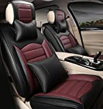 Car seat covers, PU-plague seat covers leather 5 seats full of sentence before the rear car seat cushion