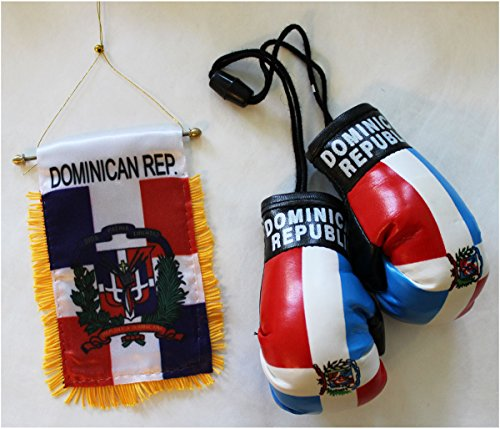 Dominican Republic - Boxing Glove and Window Hanger Combo
