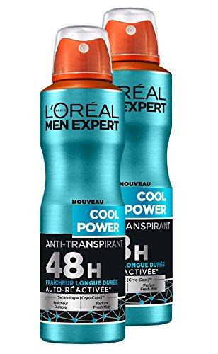 L'Oréal Men Expert Cool Power Déodorant Spray Homme Lot de 2