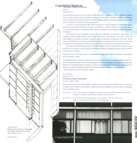 The Details of Modern Architecture (MIT Press) (Volume 1): Edward R Ford:  9780262562010: Amazon.com: Books