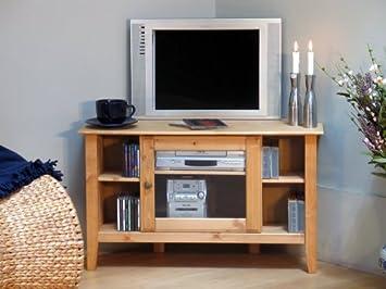 Tv Tisch Fernsehschrank In Kiefer Massiv Amazonde Küche Haushalt