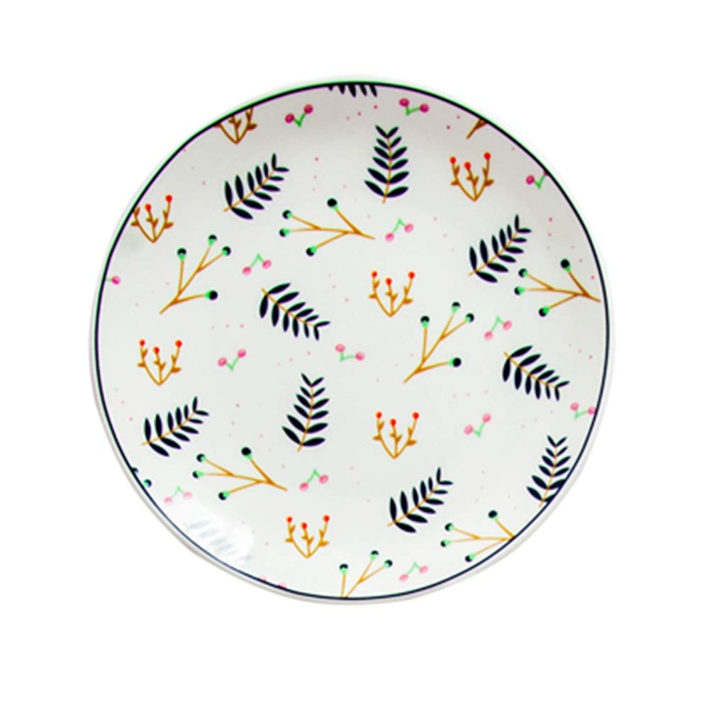 Cute Plate Dish Home Dining Dish Creative Western Food Steak Ceramic Dishware (Design : D)