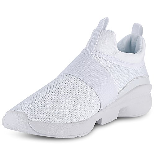 best loved 61aae 10c9b KCatsy Casual Pointed Toe Mesh Spliced Breathable Slip-on Men Shoes White