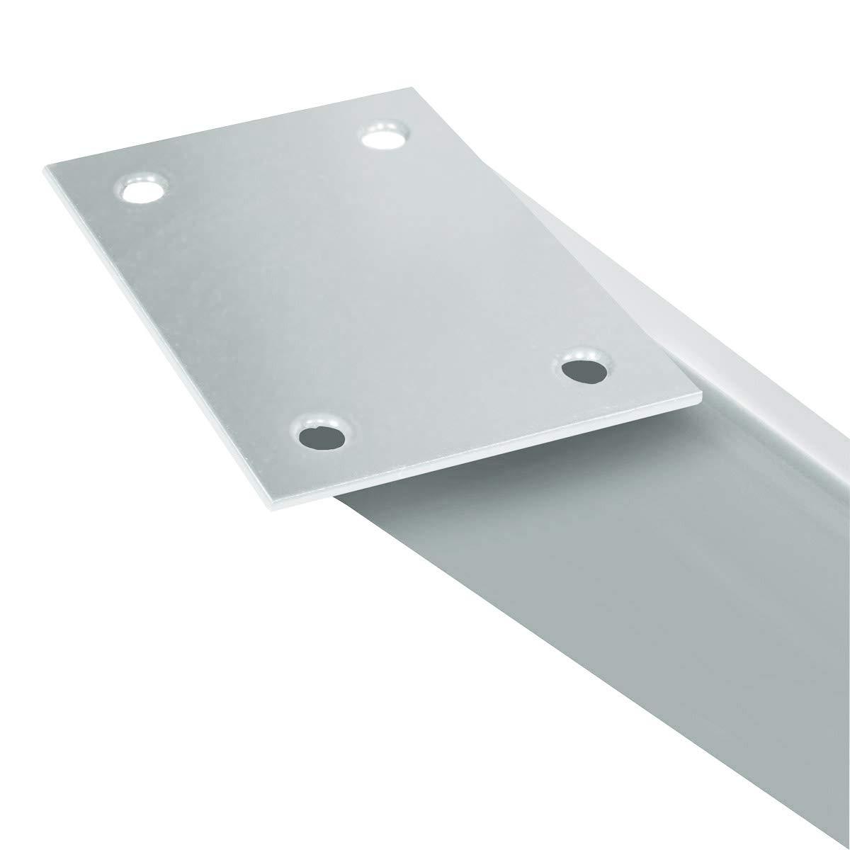 Noir Fonc/é HLT-03-G-CC-9005 Dimensions 60x72 cm HOLZBRINK 1x Pied de Table X en Profil/és dAcier 60x60 mm