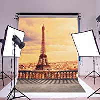5x7ft Vinyl Digital Paris Eiffel Tower Photography Studio Backdrop Background