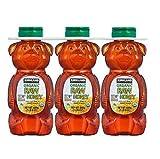 Kirkland Signature Organic Raw Honey Bear, 24 oz, 3 ct