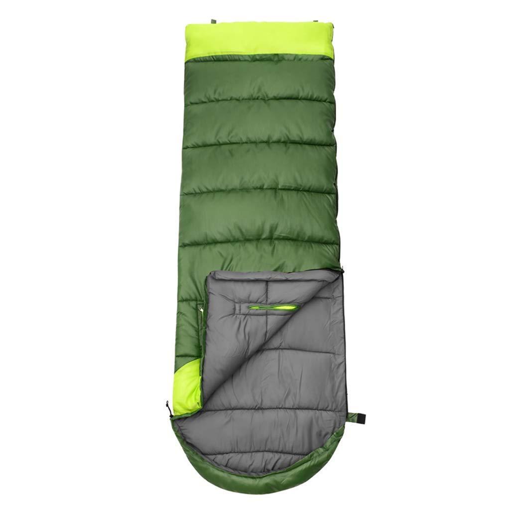 vert B XHCP Sac de couchagePolyester Adulte Duvet Coton épais Camping Camping Humidité Chaude Humidité (Capacité  B, Couleur  Bleu)