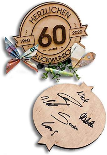 Geburtstag 44 Jahre Geschenk zum Jubil/äum Herzlichen Gl/ückwunsch Holzscheibe graviert Jahrestag DARO Design Gr/ö/ße 20cm