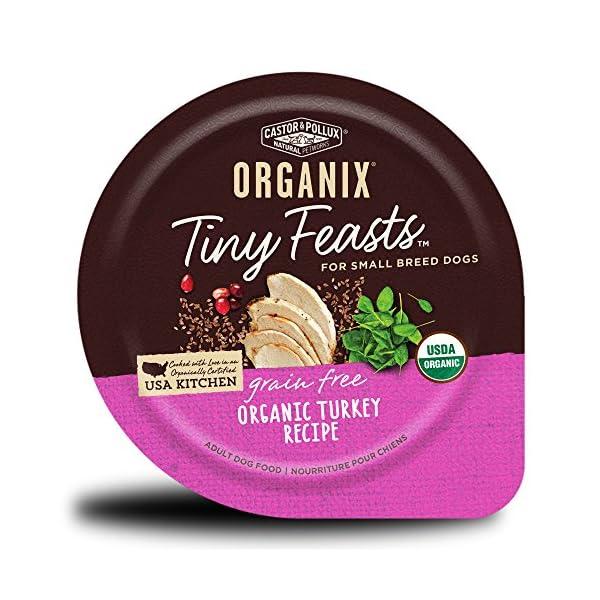 Castor & Pollux Organix Tiny Feasts Grain Free Organic Turkey Recipe Wet Dog Food 3.5 Oz, Case Of 12