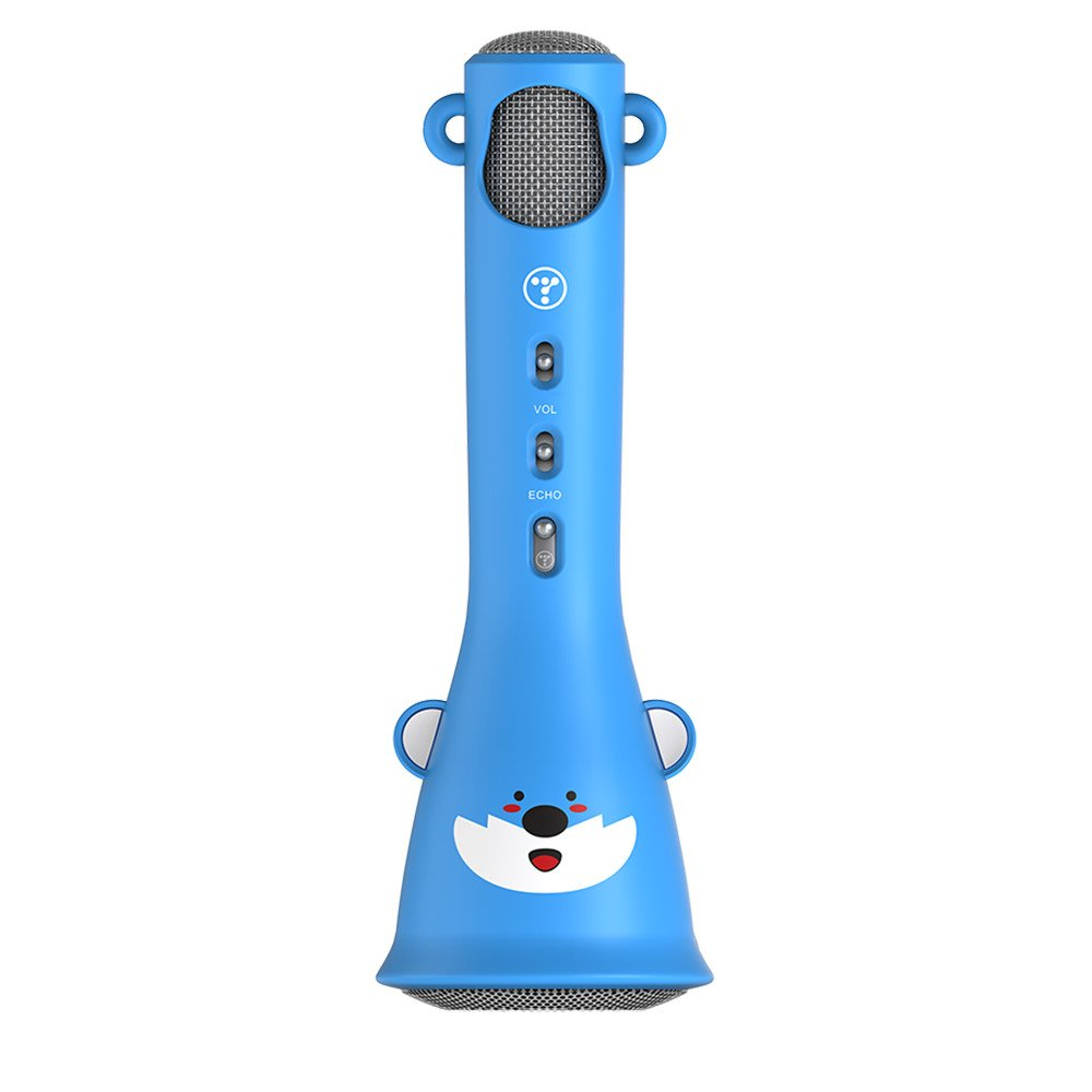 TOSING X3 Microphone for Kids Portable Wireless Microphones Karaoke with Bluetooth Speaker for Music Playing and Singing Machine System for iPhone/Android Smartphone/Tablet (Blue)