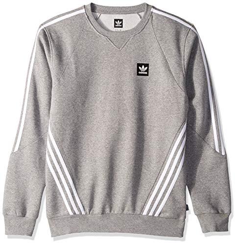 adidas Originals Men's Insley Crewneck Sweatshirt, Heather/White, X-Large ()