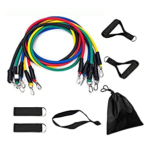 Well-Being-Matters 51Z2XYpXXgL._SS300_ Resistance Bands Set with Stackable Exercise Bands,Non-Slip Foam Hanldes,Carry Bag, Door Anchor Attachment, Legs Ankle…