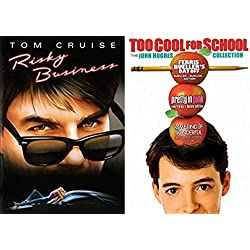 Risky Business 80's Ferris Bueller's Day Off / Pretty in Pink / Some Kind of Wonderful DVD Set double feature bundle Too Cool for School - The John Hughes Collection