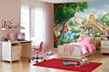 Komar Disney Princess Palace Pets Wallpaper Mural, Vinyl, Multi-Colour, 8-Piece by Komar