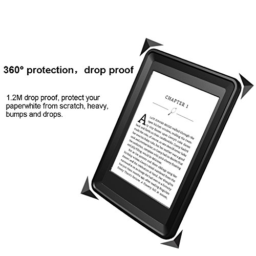 Kindle Paperwhite Case, iThrough Paperwhite Waterproof Underwater E-reader Case, Dustproof, Snowproof, Shockproof Full Sealed Protection Case with Touched Screen for Amazon Kindle Paperwhite by iThrough (Image #4)
