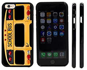 Rikki KnightTM Back Of A Yellow School Bus Design iPhone 6 Case Cover (Black Rubber with front bumper protection) for Apple iPhone 6