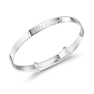 MiChic Children's Silver Little Princess Expanding Bangle Babies