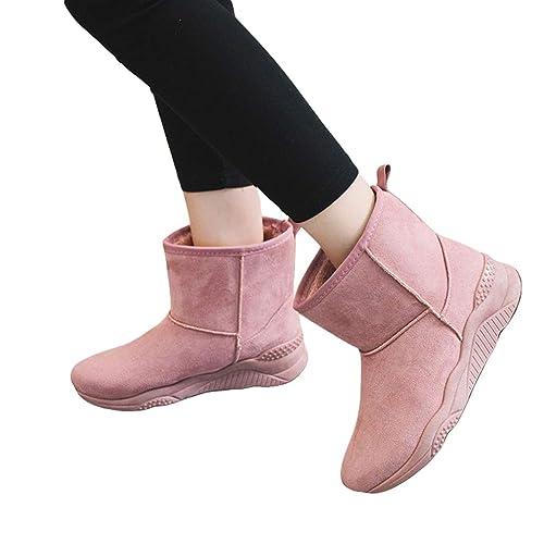 76703ebe6d301 Botas de Nieve para Mujer Lana Piel Impermeable de la Nieve del Invierno  Zapatos Calientes Antideslizantes A Prueba de Viento EU35-EU40 hibote   Amazon.es  ...