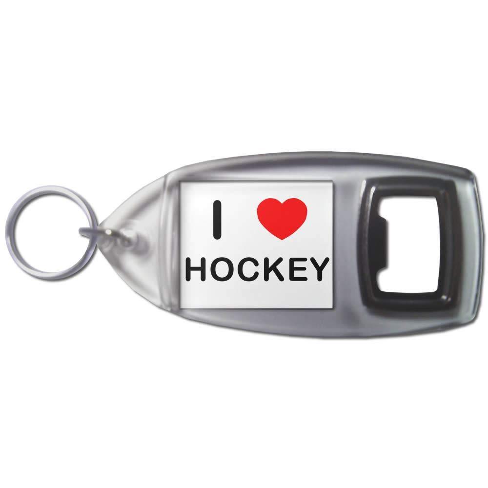 I Love Heart Hockey - Llavero abridor de botellas de ...