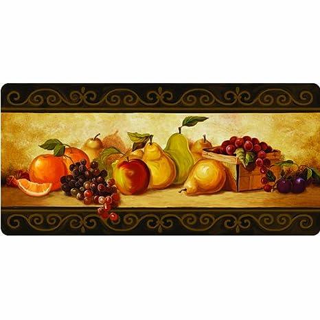 Bon Apache Mills Cushion Comfort Gourmet Fruit Kitchen Mat, 20 Inch By 42 Inch
