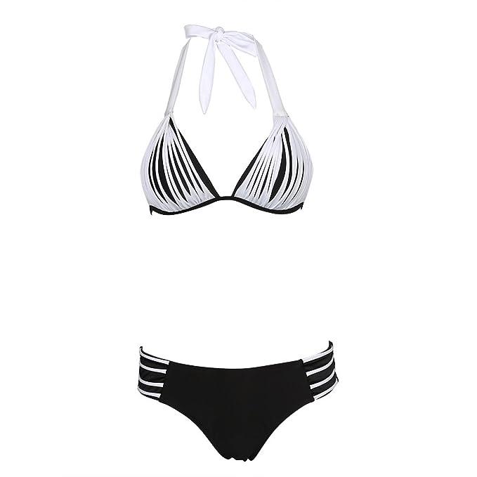SUNNOW Doble hacia Arriba del Bikini de Dos Piezas Traje de baño ...