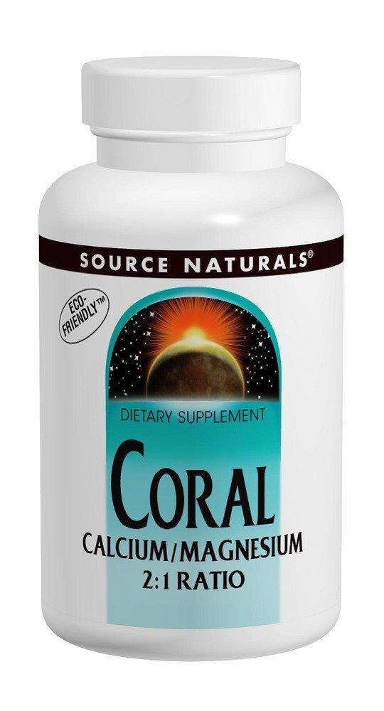 Source Naturals Coral Calcium/Magnesium 2:1 Ratio, 180 Tablets