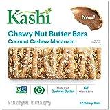 Kashi,Chewy Nut Butter Bars, Coconut Cashew Macaroon, Vegan, Gluten Free,Non-GMO Project Verified, 6.15 oz (5 Count)