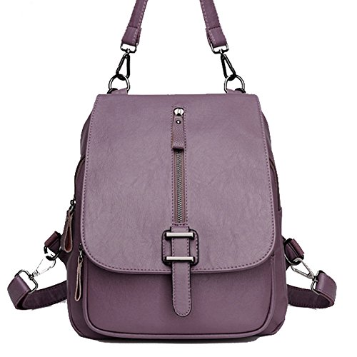 Women Leather Backpack Superior Backpacks for Lady Girl purple - 2