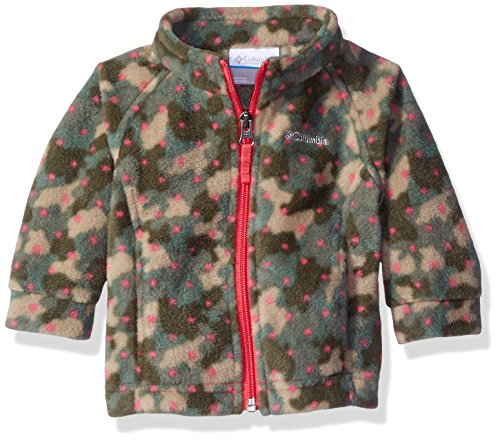 Columbia Baby Girls' Benton Springs II Fleece, Punch Pink Camo Dots, 18-24 Months