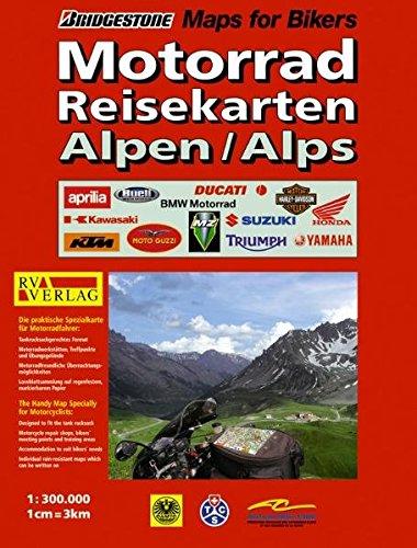 RV Motorrad-Reisekarten 1:300 000 Alpen (Niederländisch) Landkarte – Mai 2006 RV Verlag Ostfildern 3575227993 Europa
