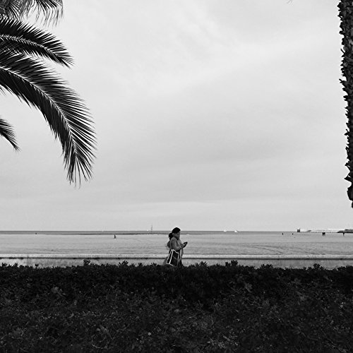 Minimalist Black And White Beach/Travel Photography Print taken in Valencia, Spain by Amadeus Long