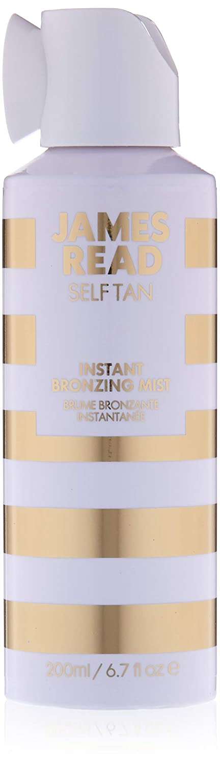 JAMES READ Instant Bronzing Mist for Face & Body 200ml LIGHT/MEDIUM All-Over Golden Glow Fast Drying & Long-Lasting Tanning Mist, Develops in 6-8 Hours Suits all Skin Tones Infused with Aloe Vera JAM023G