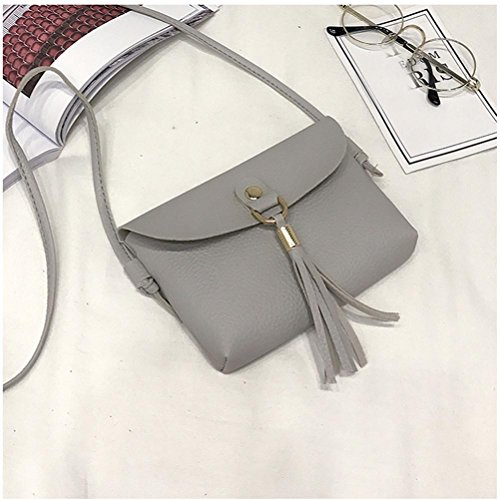 Handbag Shoulder Bag Fashion Vintage Shoulder Gray Bag Purse Tassel Clearance Small Bags Bags Seaintheson Leather Shoulder Mini Brown Crossbody Messenger vBXIB