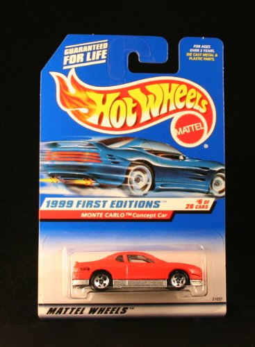 MONTE CARLO CONCEPT CAR * RED * 1999 FIRST EDITIONS SERIES #6 of 26 HOT WHEELS Basic Car 1:64 Scale Series * Collector #910 * (Retired 1999 Edition)