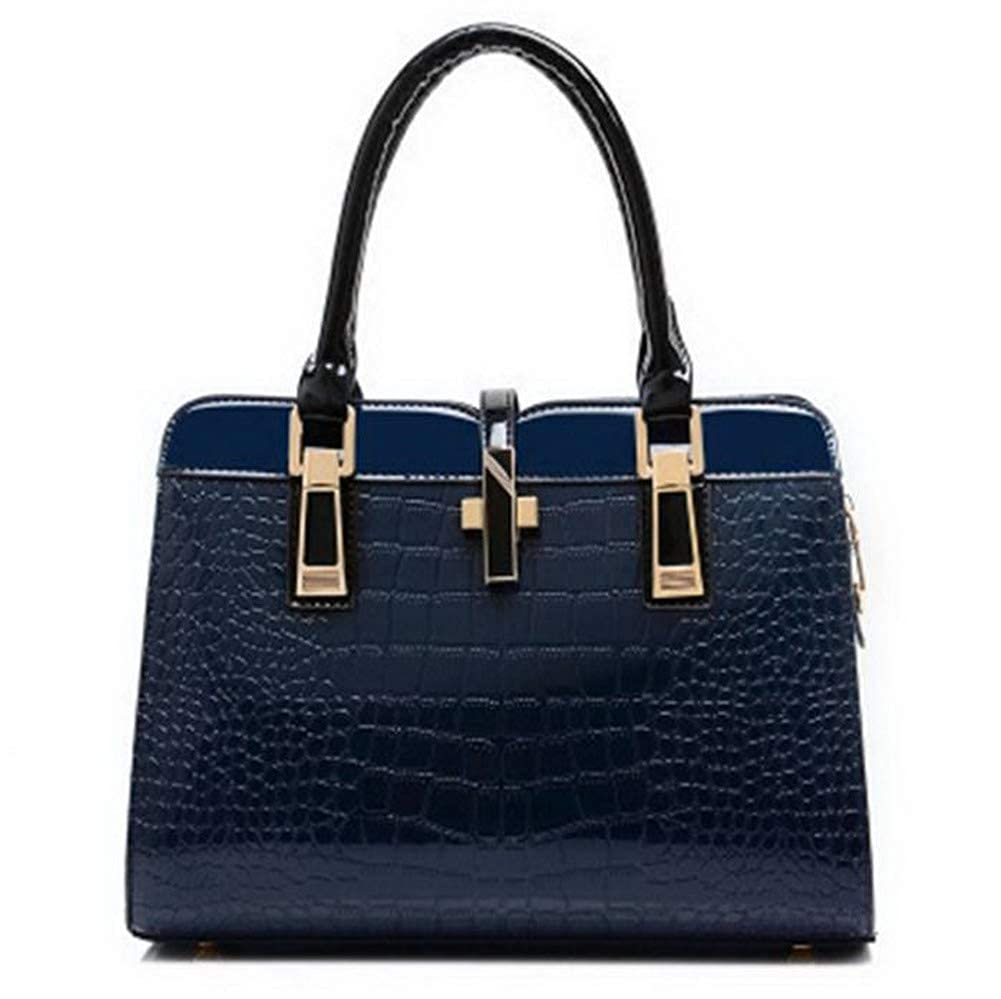 bluee WeiPoot Women's Tourism Party Studded Dacron Shoulder Bags, EGHBG181939