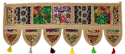 (Mango Gifts Handmade Ethnic Home Decor Toran Tapestry Embroidered Garland Door Hanging India)