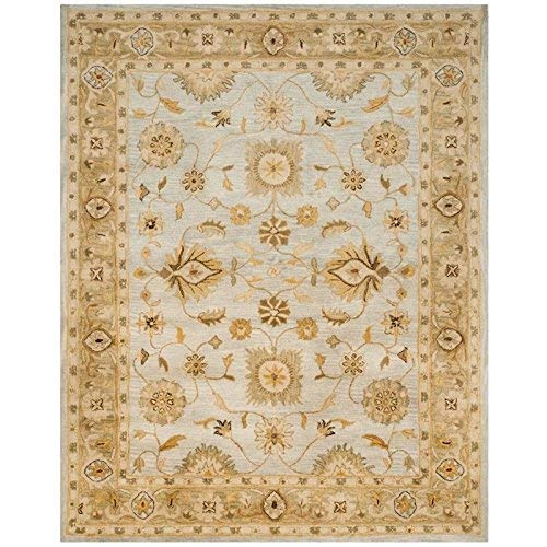 Safavieh Antiquities Collection AT856B Handmade Traditional Oriental Light Blue and Sage Wool Area Rug (5' x 8')