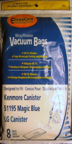 Kenmore M / 51195 Bag Generic Allergen for Sears Canisters 8 (Kenmore Magic)