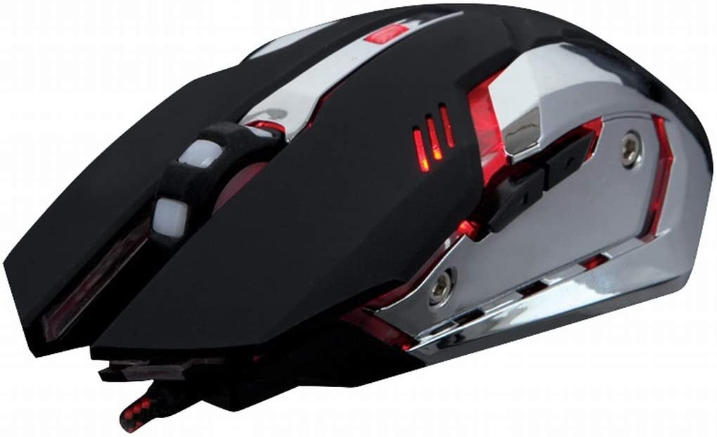 Color : Black XIAMEND USB Gaming Mouse Wired 1600 DPI 7 Buttons with LED Backlight