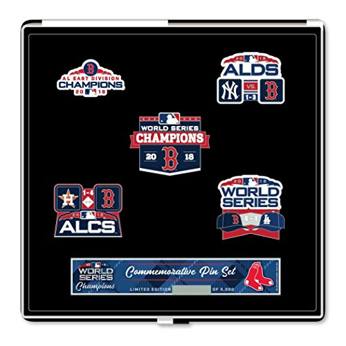 (Boston Red Sox 2018 World Series Champions Commemorative Pin Set - Limited to 5,000 )