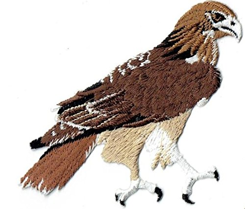 Bird Embroidered Iron - Red-tailed Hawk Bird Iron on Embroidered Patch
