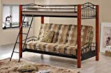 Coaster Bunk Bed with Futon Convertible, Twin