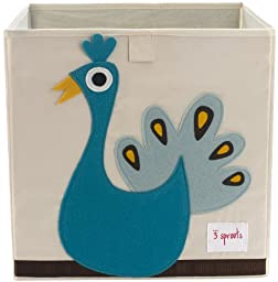 3 Sprouts Storage Box, Peacock