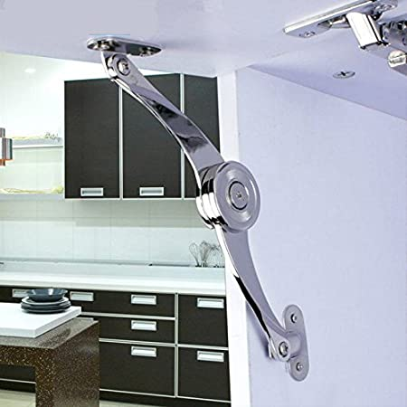 Amazon Com Soft Close Lift Up Stay Hinge Concealed Hardware Door Kitchen Cabinet Cupboard Everything Else