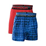 Under Armour Boys' Original Series Boxer Shorts 2-Pack, Powderkeg Blue/Red, Youth X-Large