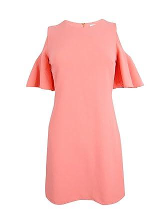 d0dca8d3db0ef Calvin Klein Off-The-Shoulder Ruffle Sheath Dress at Amazon Women s ...