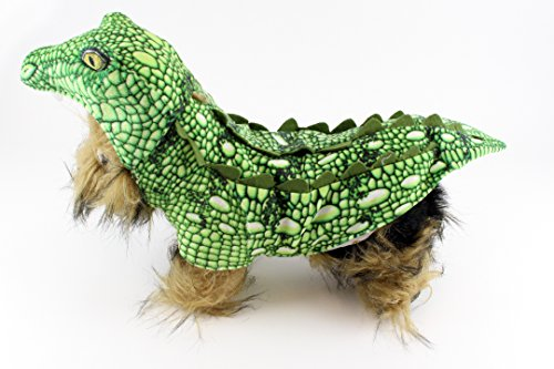Realistic Green Crocodile Dog Halloween Costume (Large) (Realistic Dog Costumes)